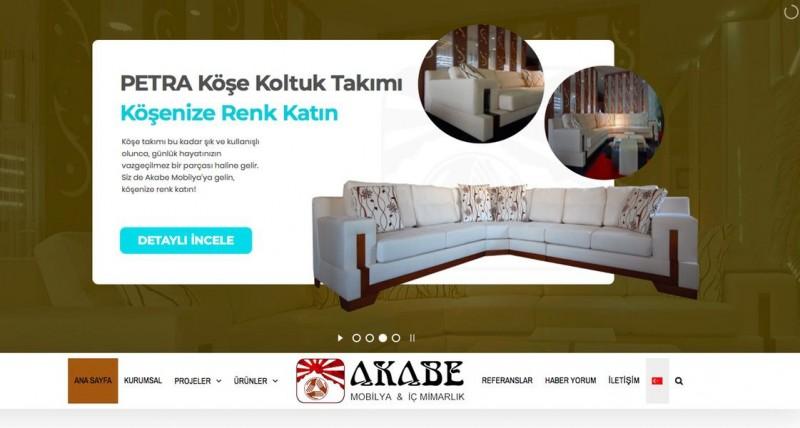 Akabe Mobilya web tasarım